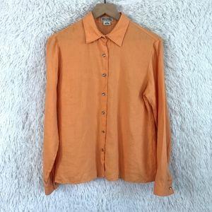 Michael Kors | Orange Linen Button Down Size 10